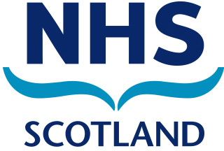 The logo of NHS Scotland